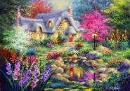 Cottage Pond - 1500 Teile Puzzle