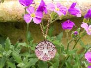Blume der Liebe diamantiert Halskette