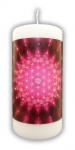 Blume des Lebens Kerze pink