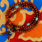 Mala Holz mit silberfarbener Dorje