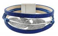 Feder Armband Blau