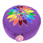 Blüte in Regenbogenfarben Meditationskissen
