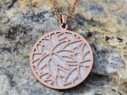 Lotusblüte diamantiert Halskette