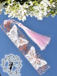 FeenstAuB Lesezeichen Schmetterling weiß-rosé