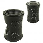 Duftlampe/Räucherstövchen aus Speckstein schwarz