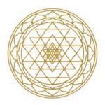 Symbol-Aufkleber SET Sri Yantra