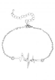 Heartbeat Armband Silber