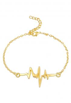 Heartbeat Armband Gold