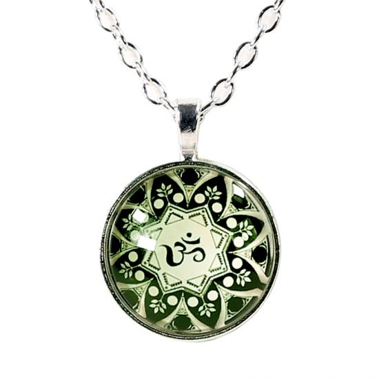 OM im Mandala Symbol Anhänger