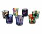 Glas-Teelichthalter mit Symbolen