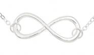 Unendlichkeitssymbol Fußkettchen Silber
