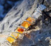Bernstein Nanofrequenz Kristall Anhänger